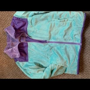 Reversable girls teal / purple jacket.